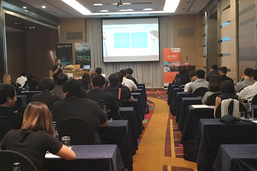 VST ECS (Thailand) joined with HPE organized a seminar introducing HPE Pointnext for the dealers